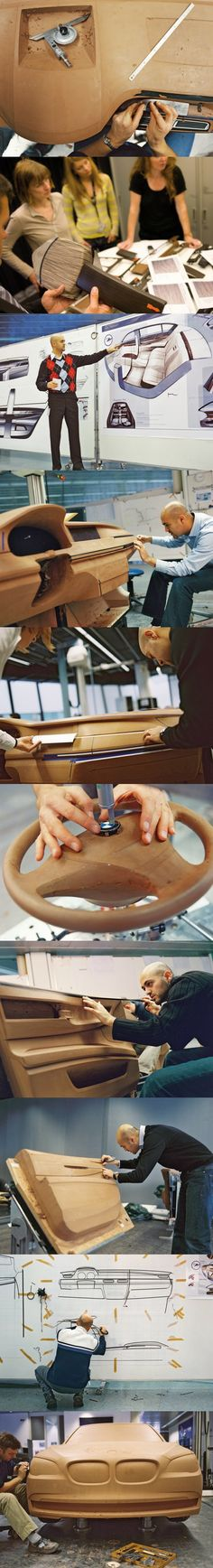 bmw 7 Series process. Impressive to see the actually sculpting of a car.