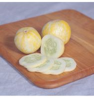 Lemon Cucumbers are the perfect summer treat.  They are sweet, easy to digest and great for pickling or eating fresh.  Matures in 65 days.  They can be grown vertically on a trellis when space is limited.