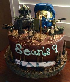 Halo themed Happy Birthday Cake