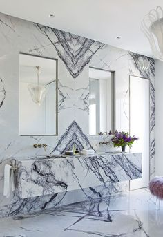 〚 New interiors by Kara Mann 〛 ◾ Photos ◾Ideas◾ Design – Marble Decoration Bathroom Inspiration, Interior Design Inspiration, Bathroom Inspo, Modern Bathroom, Design Ideas, Interior Design Minimalist, Flush Doors, Asian Home Decor, Bathroom Interior Design