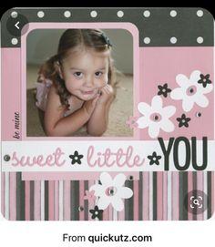 Baby Girl Scrapbook, Baby Scrapbook Pages, Kids Scrapbook, Scrapbook Templates, Scrapbook Designs, Scrapbook Sketches, Scrapbook Page Layouts, Scrapbook Paper Crafts, Scrapbook Cards