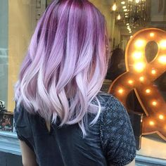 #purple #pink#rosegold #rose #peachcobbler  #peachhair  #hairlounge #haircolormagic #haircolor #nyc #hairsalon #ombre #balayage #ash #blonde #smokey#soho #Wellalife  #wella #wellahair #wellacolor  #hairpainting #modernsalon #silver #grey #nature #behindthechair #americansalon #americansalonselfie