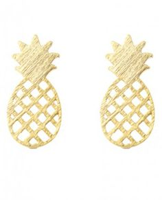 pretty gold pineapple studs