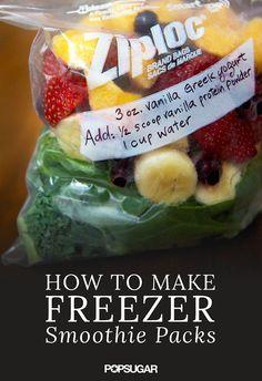 2 Reasons to Make Smoothie Freezer Packs | POPSUGAR Fitness UK