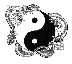 Yin Yang Dragon By Hendercrazy