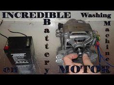 Incredible washing machine motor on battery! - YouTube