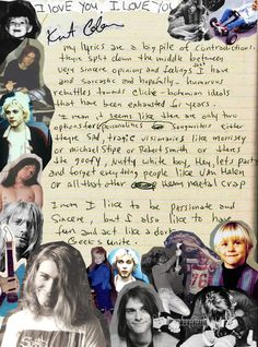 Résultat d'images pour kurt cobain and friends Kurt Cobain Frases, Nirvana Kurt Cobain, Great Bands, Cool Bands, Grunge, Seattle, Donald Cobain, Me Too Lyrics, Foo Fighters