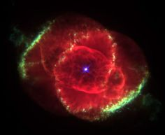 The Cat's Eye Nebula Image Credit: J. P. Harrington (U. Maryland) & K. J. Borkowski (NCSU) HST, NASA Three thousand light-years away, a dying star throws off shells of glowing gas. This image from the Hubble Space Telescope reveals the Cat's Eye Nebula to be one of the most complex planetary nebulae known. In fact, the features seen in the Cat's Eye are so complex that astronomers suspect the bright central object may actually be a binary star system.