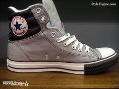 Converse Chuck Taylor Padded Collar - Grey. (Pretty much my fave kicks atm!)