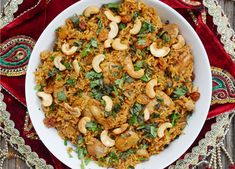 Try our Biryani Chicken this weekend at India Palace. It's a classic Muglai dish of curried chicken in rice, fragrant in saffron, cooked with cashews, raisins, and almonds. Served with raita. Indian Chicken Recipes, Easy Indian Recipes, Healthy Chicken Recipes, Mexican Recipes, Tilapia, Healthy Recipes, Cooking Recipes, Diet Recipes, Instant Pot