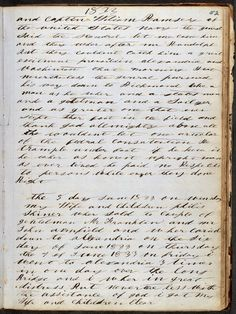 Image 1 of 2, Michael Shiner diary. -- Shiner was a slave who rescued his wife and children. http://www.aisling.net/journaling/old-diaries-online.htm