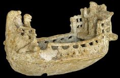 A terracotta ship found on the seafloor models the types of vessels used around 600-480 B.C., especially in between Amathus, on Cyprus's southern coast, and Egypt.