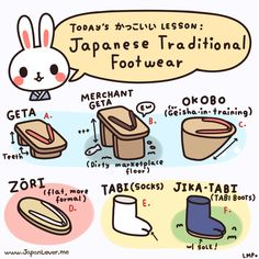 Japanese traditional footwear!  ♥ www.japanlover.me ♥