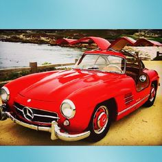 "@Blabla Car's photo: ""1956 Mercedes 300SL Gullwing #tbt #mercedes #vintage #car"""