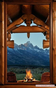 Log cabin in Jackson Hole, Wyoming.