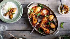 Pilons de poulet marinés et sauce satay