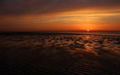 Random: Ocean Beach Orange Horizon Wallpaper Downloads, Wallpaper Backgrounds, Top 10 Wallpapers, Sunset Sea, Ocean Beach, Beautiful Sunset, Deviantart, Stock Photos, Orange