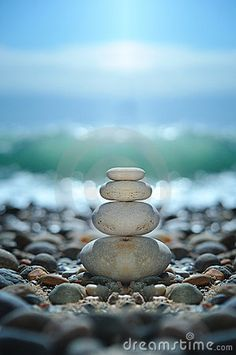 Zen rocks for meditation. Being at peace using beginners mind.