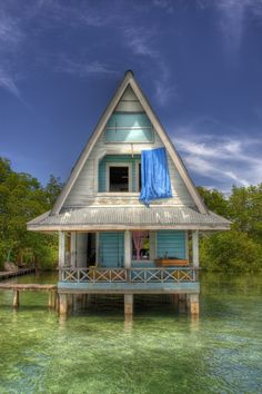 Local architecture in Bocas del Toro, Panamá  Would love to have this for my getaway place.
