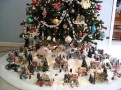Christmas village houses putz display: