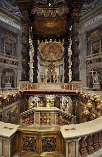 Saint Peter's tomb in St. Peter's Basilica, Rome, Italy