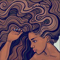 Art by Keturah Ariel @keturahariel.com #HairFinity