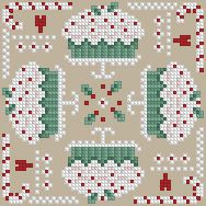 The Floss Box | Biscornu 590 Pdf pattern. a A ton of biscornu patterns at the floss box website