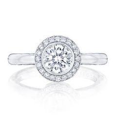 Shop online TACORI 303-25RD6 Halo 18K - White Gold Diamond Engagement Ring at Arthur's Jewelers. Free Shipping