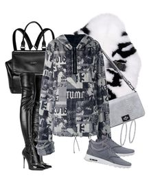 """""""Untitled #22"""" by nelafashion ❤ liked on Polyvore featuring Givenchy, Fendi, Alexander McQueen, Lamoda, Puma, NIKE and BillyTheTree"""