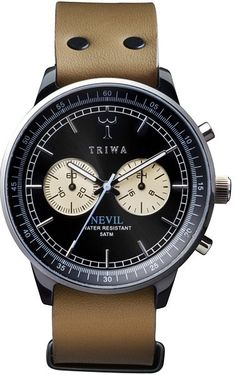 triwa watches nevil raven in tan- Cool Watches, Watches For Men, Wrist Watches, Men's Watches, Look Man, Looks Style, Guy Style, Style Men, Luxury Watches