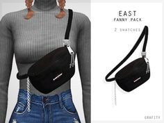 East Fanny Pack by grafity-cc Sims Four, The Sims 4 Pc, Sims 4 Cas, My Sims, Sims Cc, Sims 4 Mods Clothes, Sims 4 Clothing, Pelo Sims, Sims 4 Game Mods