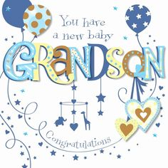 Congratulations Baby Boy Images Elegant New Baby Grandson Congratulations Greeting Card Cards Baby Congratulations Messages, Baby Card Messages, Baby Born Congratulations, Baby Shower Card Sayings, Baby Shower Greetings, Baby Shower Greeting Cards, New Baby Greetings, Wishes For Baby Boy, Wishes For Baby Cards