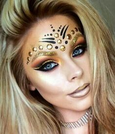 39 ideas for party makeup tutorial face paintings Party Makeup Tutorial, Carnival Makeup, Rave Makeup, Creative Makeup Looks, Pinterest Makeup, Mermaid Makeup, Fairy Makeup, Maquillage Halloween, Festival Makeup