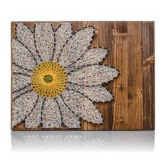 Sunflower String Art Kit Craft Kit For Adults DIY Crafts Sunflower Decor Wall Art Wall Hanging DIY Kit Christmas Gift diy craft kits for adults - Diy Arts And Crafts For Adults, Arts And Crafts Projects, Diy And Crafts, Adult Crafts, Decor Crafts, Art Projects For Adults, Wood Crafts, Hanging Wall Art, Wall Art Decor