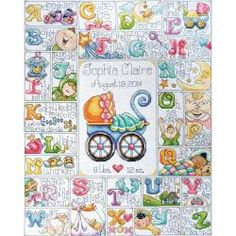 Baby ABC Counted Cross Stitch Kit - 16 X20 14 Count - Overstock™ Shopping - Big Discounts on Design Works Cross Stitch Kits - overstock.com
