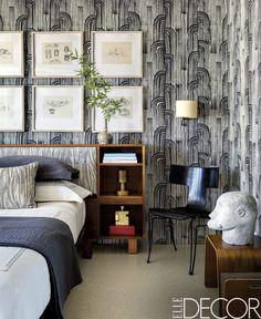 Black And White Motif Wallpaper - ELLEDecor.com