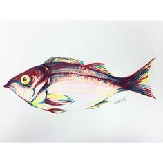 快速技法 去除灰色調利用補色加入暗面 Paintings, Fish, Pets, Animals, Animaux, Painting Art, Painting, Animal, Animales