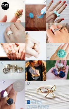 13 DIY RING Tutorials- these make fun gifts