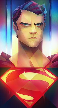 Superman: Man of Steel - Digital Illustrations by Carlos Lerma Superman Art, Superman Man Of Steel, Superhero Superman, Superman Games, Superhero Cartoon, Superman Logo, Arte Dc Comics, Marvel Comics, Catwoman