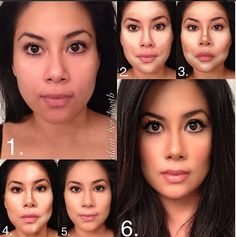 Glam her booth contouring... los milagros del maquillaje