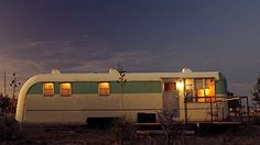 El Cosmico, Marfa Texas. 5 vintage trailers as hotel rooms!