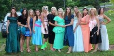 Ugly bridesmaids dresses for bachorlette party. These hookers totally copied me.. I'm pissed lol @Alison Irish @Brittany Watkins @Jade Bigler