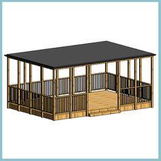 Freestanding Timber Outdoor Classroom 4000W x 6000L (Autodesk Revit Architecture 2012 Families) — urBIM Revit Components.