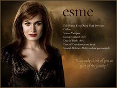 Esme, cool site with pictures of Twilight and other movies