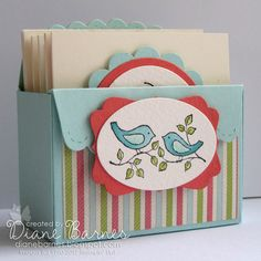 scallop envelope die box of cards  - colour me happy