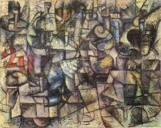 Carlo Carrà, 1911, Rhythms of Objects (Ritmi d'oggetti), oil on canvas, 53 x 67 cm, Pinacoteca di Brera - Carlo Carrà - Wikipedia, the free encyclopedia