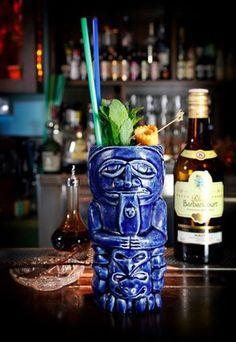 Customized Tiki Mug for Baba Au Rum, Cocktail Bar, Athens