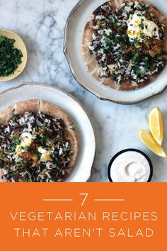 7 Vegetarian Recipes That Aren't Salad via @PureWow