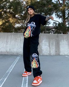 Tomboy Fashion, Harajuku Fashion, Teen Fashion Outfits, Retro Outfits, Baddie Outfits Casual, Chill Outfits, Cute Casual Outfits, Moda Streetwear, Streetwear Fashion