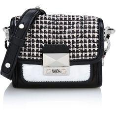 Karl Lagerfeld K/Kuilted Tweed Mini Crossbody (660 BRL) ❤ liked on Polyvore featuring bags, handbags, shoulder bags, purses, bolsas, сумки, rocky pink, mini messenger bag, shoulder messenger bag and mini crossbody purse